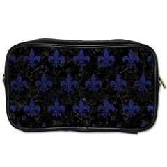Royal1 Black Marble & Blue Leather (r) Toiletries Bag (one Side) by trendistuff
