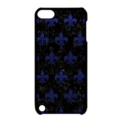 Royal1 Black Marble & Blue Leather (r) Apple Ipod Touch 5 Hardshell Case With Stand by trendistuff