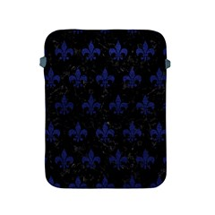 Royal1 Black Marble & Blue Leather (r) Apple Ipad 2/3/4 Protective Soft Case by trendistuff