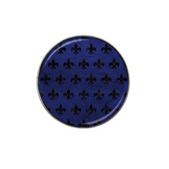Royal1 Black Marble & Blue Leather Hat Clip Ball Marker (4 Pack) by trendistuff