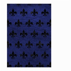 Royal1 Black Marble & Blue Leather Small Garden Flag (two Sides) by trendistuff