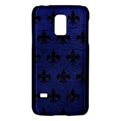 Royal1 Black Marble & Blue Leather Samsung Galaxy S5 Mini Hardshell Case  by trendistuff