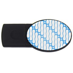 Batik Pattern Usb Flash Drive Oval (2 Gb) by Simbadda