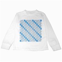 Batik Pattern Kids Long Sleeve T Shirts by Simbadda