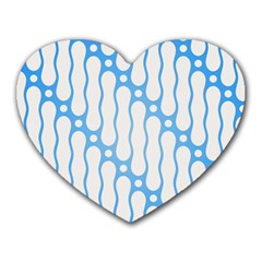 Batik Pattern Heart Mousepads by Simbadda
