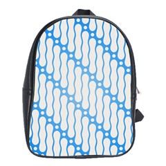 Batik Pattern School Bags(large)  by Simbadda