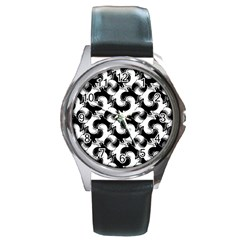 Birds Flock Together Round Metal Watch by Simbadda