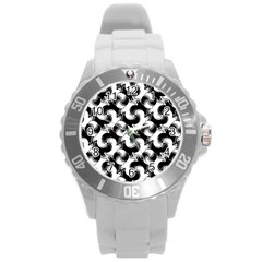 Birds Flock Together Round Plastic Sport Watch (l) by Simbadda
