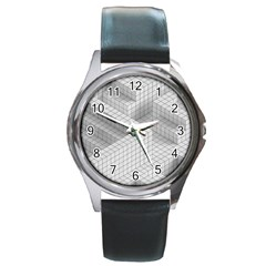 Design Grafis Pattern Round Metal Watch by Simbadda