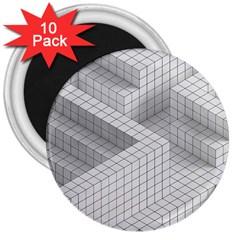 Design Grafis Pattern 3  Magnets (10 Pack)  by Simbadda