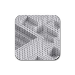 Design Grafis Pattern Rubber Square Coaster (4 Pack)  by Simbadda