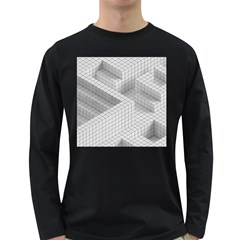Design Grafis Pattern Long Sleeve Dark T Shirts by Simbadda