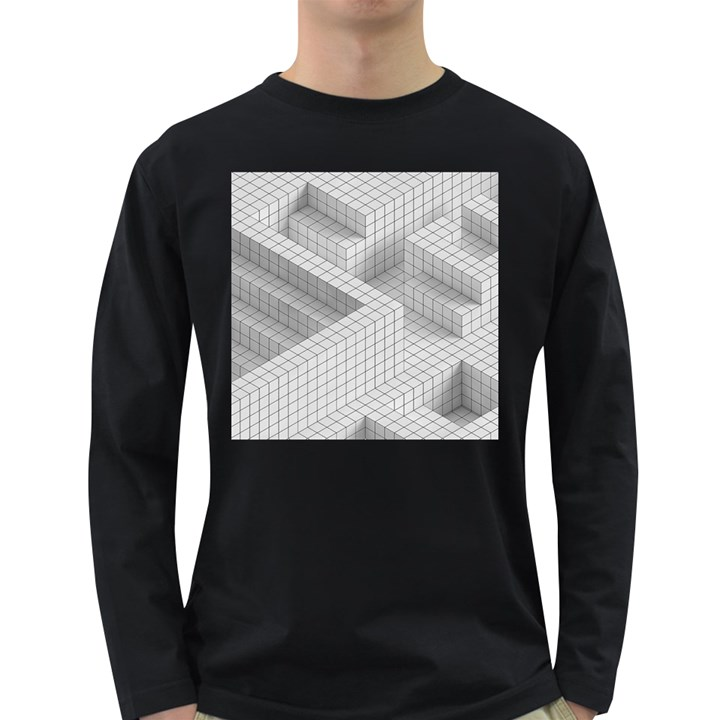 Design Grafis Pattern Long Sleeve Dark T-Shirts