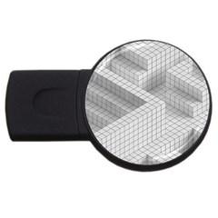 Design Grafis Pattern Usb Flash Drive Round (4 Gb) by Simbadda