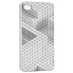 Design Grafis Pattern Apple Iphone 4/4s Seamless Case (white) by Simbadda