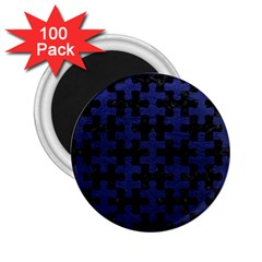 Puzzle1 Black Marble & Blue Leather 2 25  Magnet (100 Pack)  by trendistuff