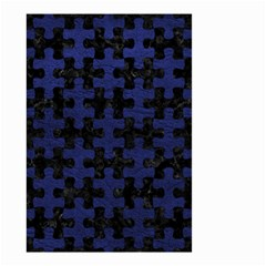 Puzzle1 Black Marble & Blue Leather Small Garden Flag (two Sides) by trendistuff