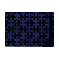 Puzzle1 Black Marble & Blue Leather Apple Ipad Mini 2 Flip Case by trendistuff
