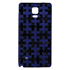 Puzzle1 Black Marble & Blue Leather Samsung Note 4 Hardshell Back Case by trendistuff