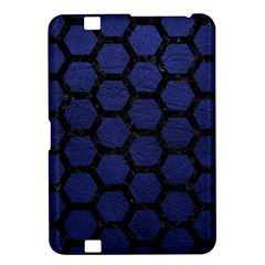 Hexagon2 Black Marble & Blue Leather (r) Kindle Fire Hd 8 9  Hardshell Case by trendistuff