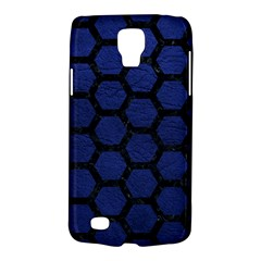 Hexagon2 Black Marble & Blue Leather (r) Samsung Galaxy S4 Active (i9295) Hardshell Case by trendistuff