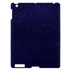 Hexagon1 Black Marble & Blue Leather (r) Apple Ipad 3/4 Hardshell Case by trendistuff