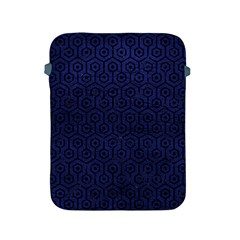 Hexagon1 Black Marble & Blue Leather (r) Apple Ipad 2/3/4 Protective Soft Case by trendistuff