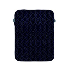 Hexagon1 Black Marble & Blue Leather Apple Ipad 2/3/4 Protective Soft Case by trendistuff