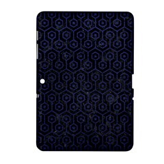 Hexagon1 Black Marble & Blue Leather Samsung Galaxy Tab 2 (10 1 ) P5100 Hardshell Case  by trendistuff