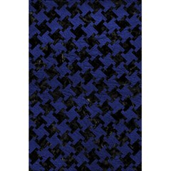 Houndstooth2 Black Marble & Blue Leather 5 5  X 8 5  Notebook by trendistuff