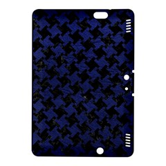 Houndstooth2 Black Marble & Blue Leather Kindle Fire Hdx 8 9  Hardshell Case by trendistuff