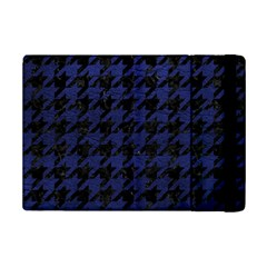 Houndstooth1 Black Marble & Blue Leather Apple Ipad Mini 2 Flip Case by trendistuff