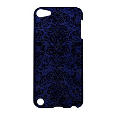 Damask2 Black Marble & Blue Leather (r) Apple Ipod Touch 5 Hardshell Case by trendistuff