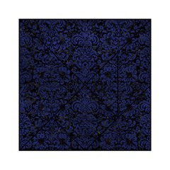 Damask2 Black Marble & Blue Leather Acrylic Tangram Puzzle (6  X 6 ) by trendistuff