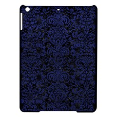 Damask2 Black Marble & Blue Leather Apple Ipad Air Hardshell Case by trendistuff