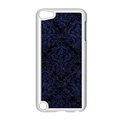 Damask1 Black Marble & Blue Leather Apple Ipod Touch 5 Case (white) by trendistuff