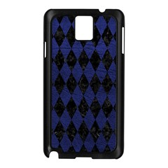 Diamond1 Black Marble & Blue Leather Samsung Galaxy Note 3 N9005 Case (black) by trendistuff