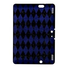 Diamond1 Black Marble & Blue Leather Kindle Fire Hdx 8 9  Hardshell Case by trendistuff