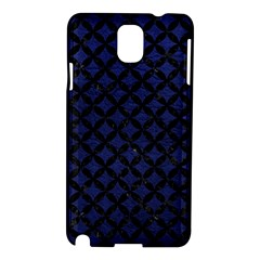 Circles3 Black Marble & Blue Leather (r) Samsung Galaxy Note 3 N9005 Hardshell Case by trendistuff