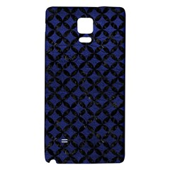 Circles3 Black Marble & Blue Leather (r) Samsung Note 4 Hardshell Back Case by trendistuff