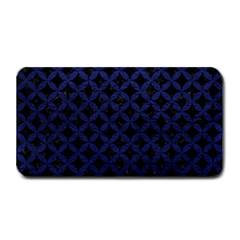 Circles3 Black Marble & Blue Leather Medium Bar Mat by trendistuff