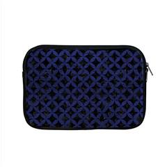 Circles3 Black Marble & Blue Leather Apple Macbook Pro 15  Zipper Case by trendistuff