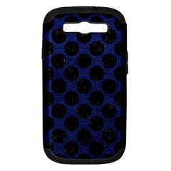 Circles2 Black Marble & Blue Leather (r) Samsung Galaxy S Iii Hardshell Case (pc+silicone) by trendistuff