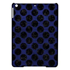 Circles2 Black Marble & Blue Leather (r) Apple Ipad Air Hardshell Case by trendistuff
