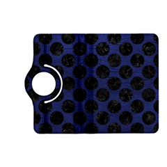 Circles2 Black Marble & Blue Leather (r) Kindle Fire Hd (2013) Flip 360 Case by trendistuff