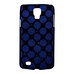 Circles2 Black Marble & Blue Leather Samsung Galaxy S4 Active (i9295) Hardshell Case by trendistuff