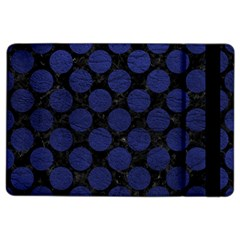 Circles2 Black Marble & Blue Leather Apple Ipad Air 2 Flip Case by trendistuff