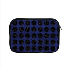 Circles1 Black Marble & Blue Leather (r) Apple Macbook Pro 15  Zipper Case by trendistuff