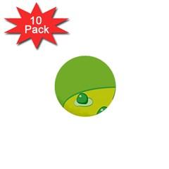 Food Egg Minimalist Yellow Green 1  Mini Buttons (10 Pack)  by Alisyart