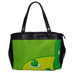 Food Egg Minimalist Yellow Green Office Handbags by Alisyart